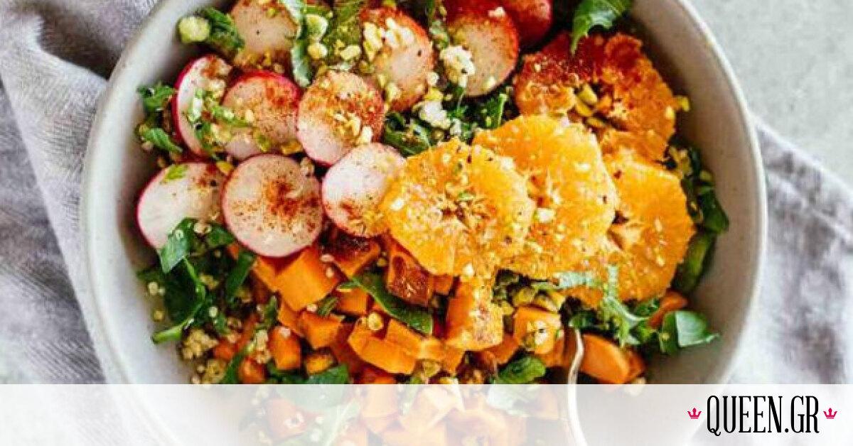 Detox σαλάτα με κινόα και μανταρίνι